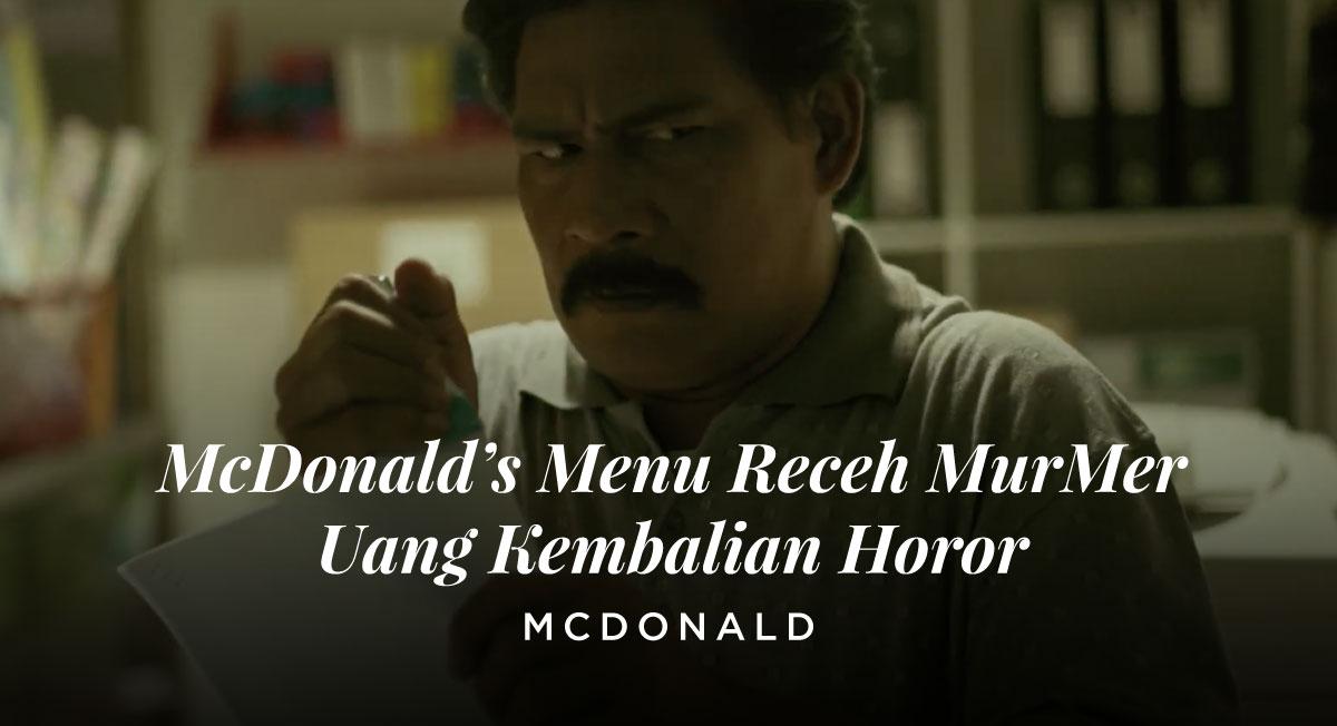 Ray Pakpahan – McDonald's Menu Receh MurMer Uang Kembalian Horor